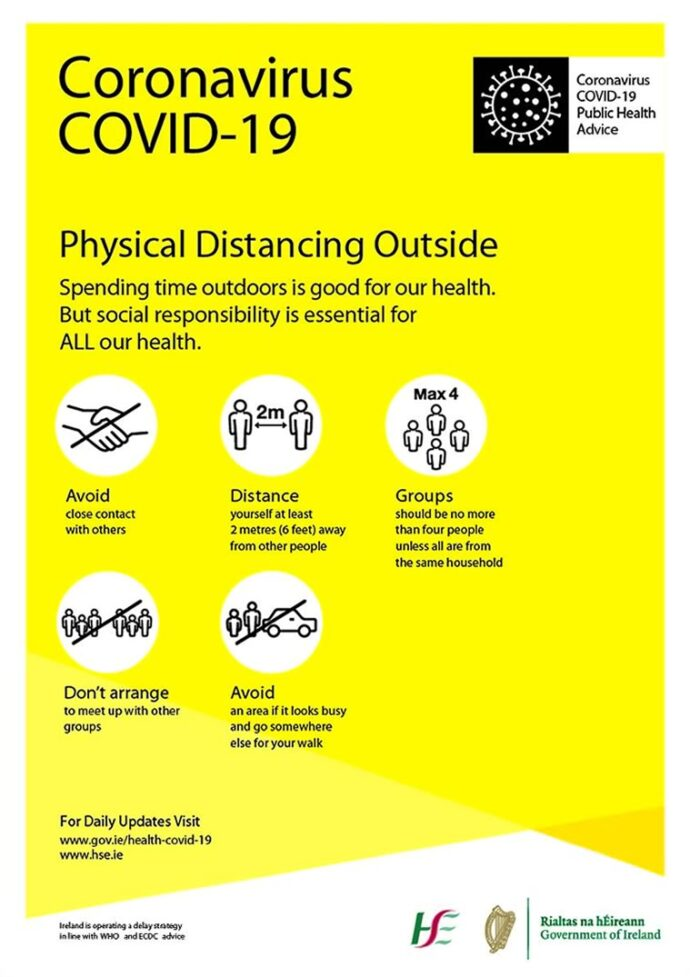 COVID poster Physical Distance Outside