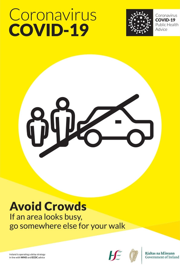 COVID Poster Avoid Crowds