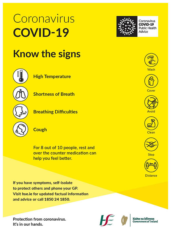 COVID Poster Know the Signs