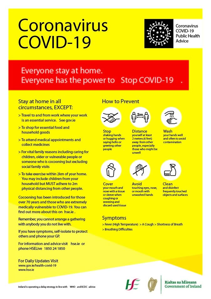 COVID poster Stay at Home