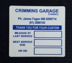 Motor Trade Stickers Printed | Wicklow Printers