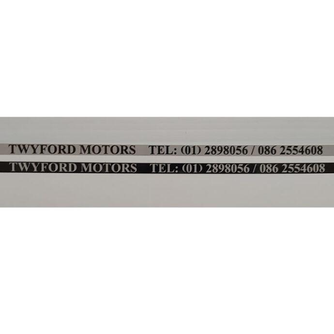 Motor Trade Number Plate Over Stickers Devitt Print