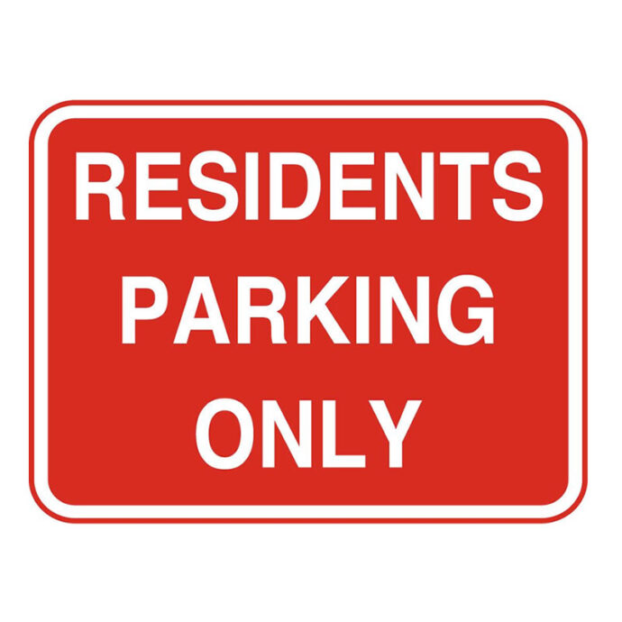 Residents Parking Only Sign | Facilities Management Signage | Devitt Printing Wicklow